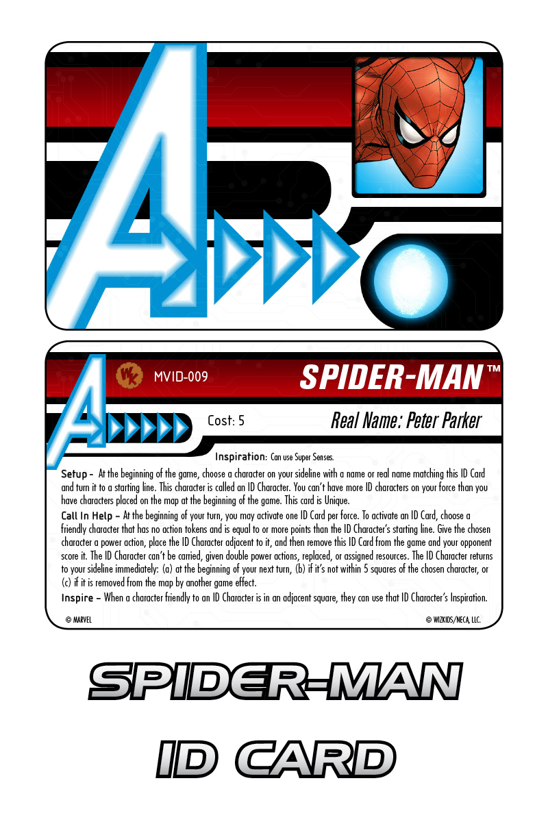 Marvel HeroClix: Avengers ID Card- Spider-Man