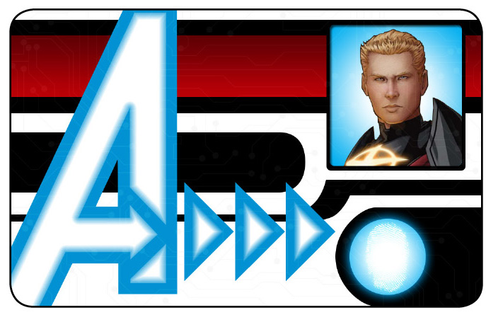 Marvel HeroClix: Avengers ID Card- Quasar