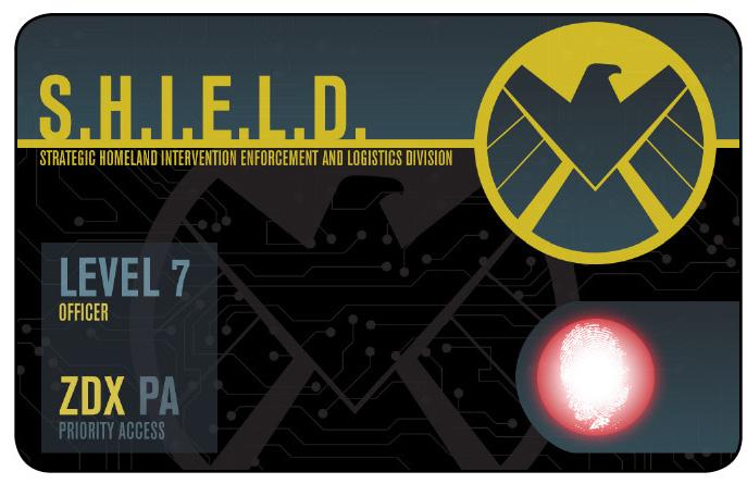 Marvel HeroClix: Avengers ID Card- S.H.I.E.L.D. Priority Access