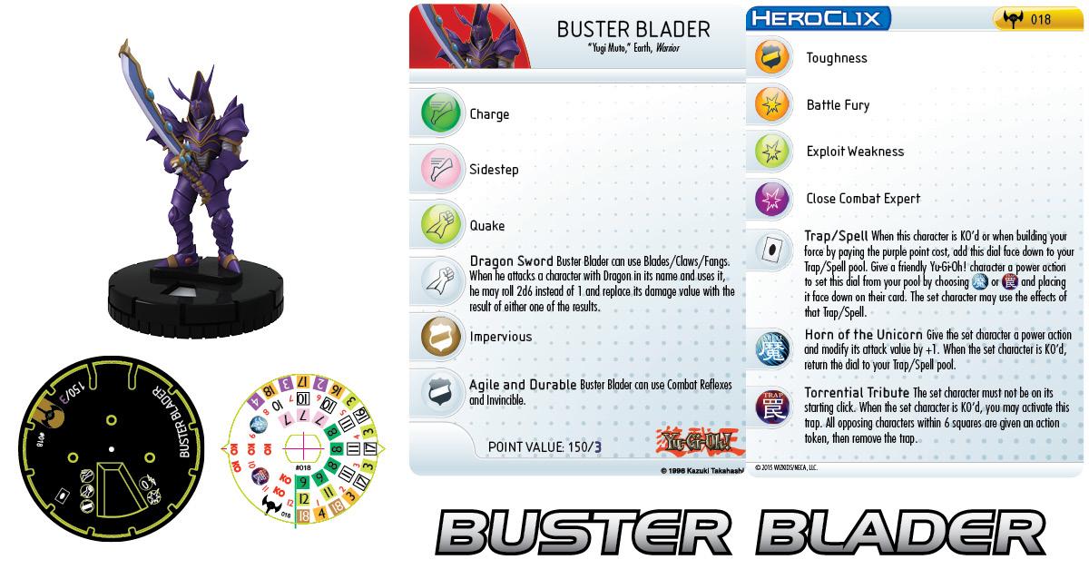 Yu-Gi-Oh! HeroClix: Series Three- Buster Blader