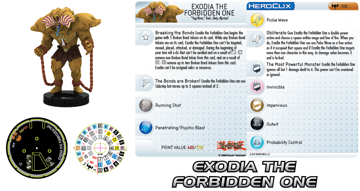 Yu-Gi-Oh! HeroClix: Series Three - Exodia the Forbidden One