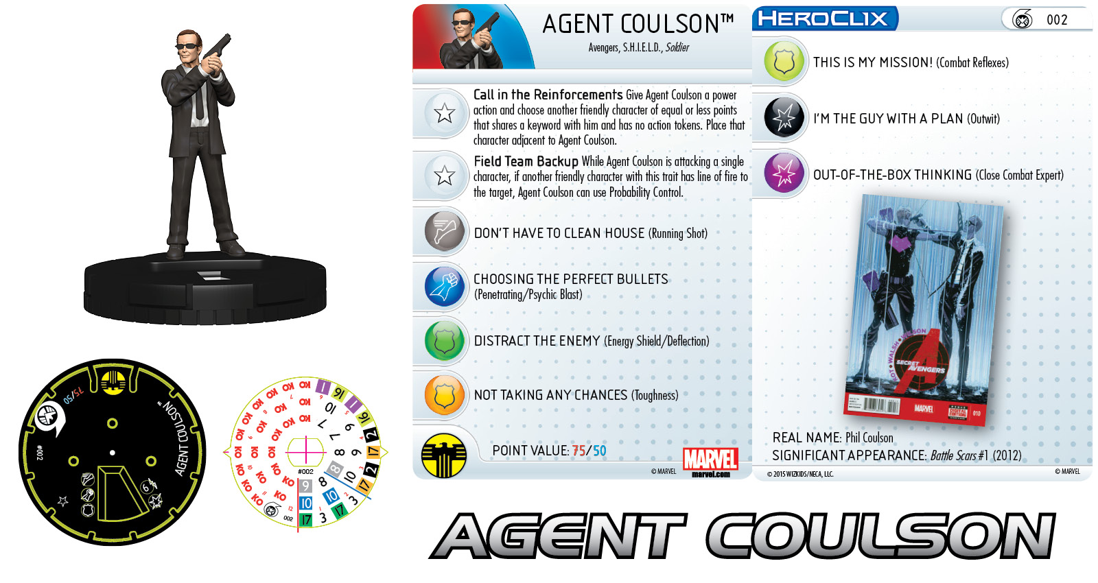 Marvel HeroClix: Nick Fury, Agent of S.H.I.E.L.D.- Agent Coulson