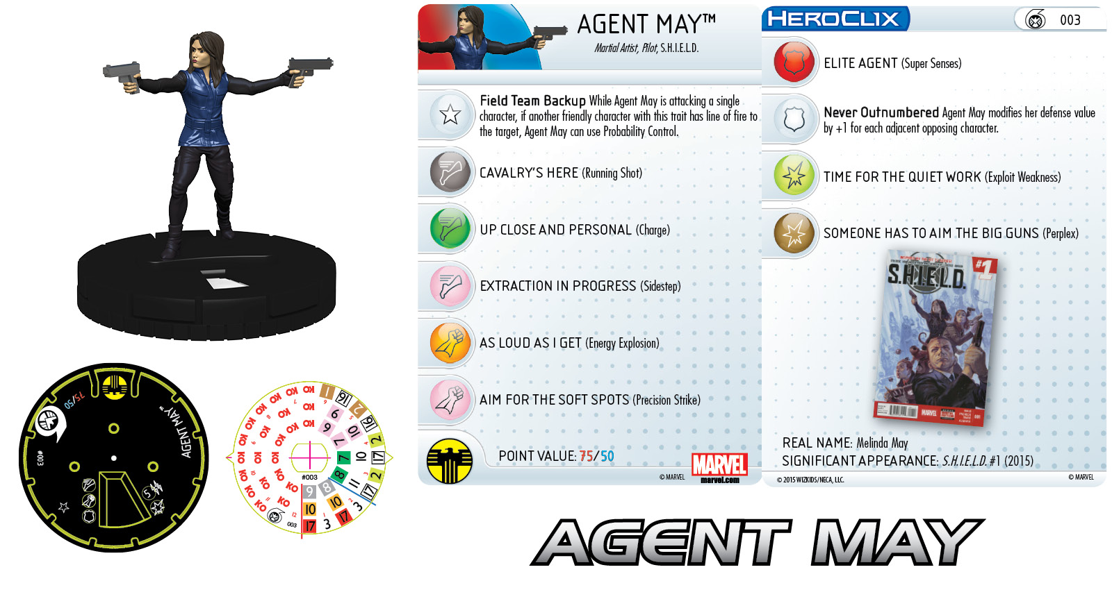 Marvel HeroClix: Nick Fury, Agent of S.H.I.E.L.D.- Agent May