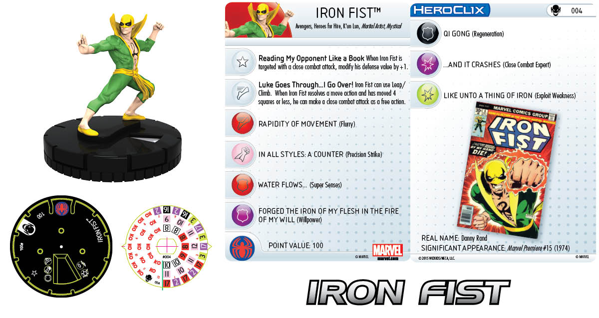 Marvel HeroClix: Age of Ultron SLOP- Iron Fist