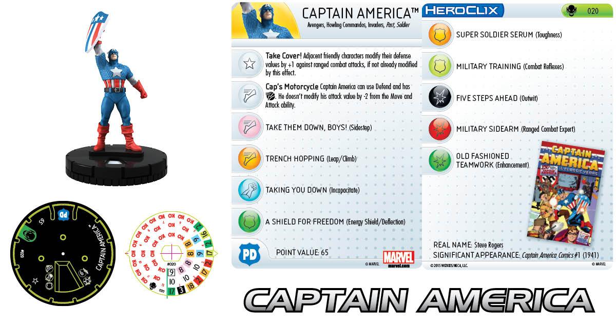 Marvel HeroClix: Age of Ultron- Captain America