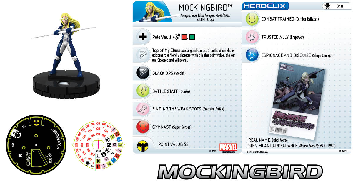 Marvel HeroClix: Age of Ultron- Mockingbird
