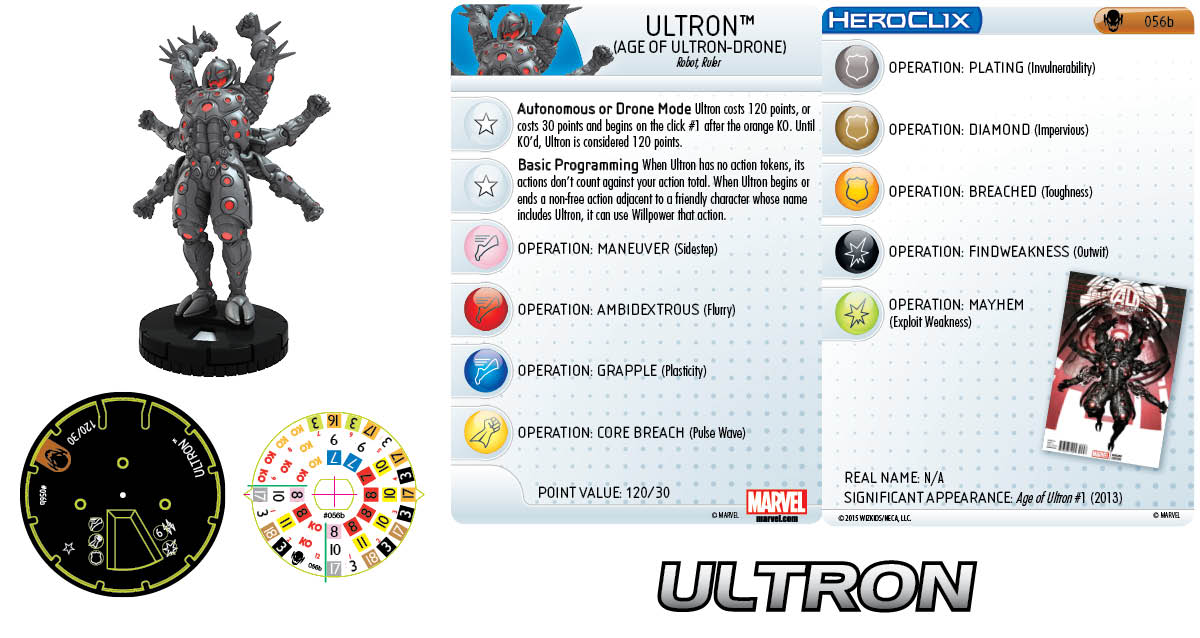 Marvel HeroClix: Age of Ultron- Ultron (Age of Ultron Drone)