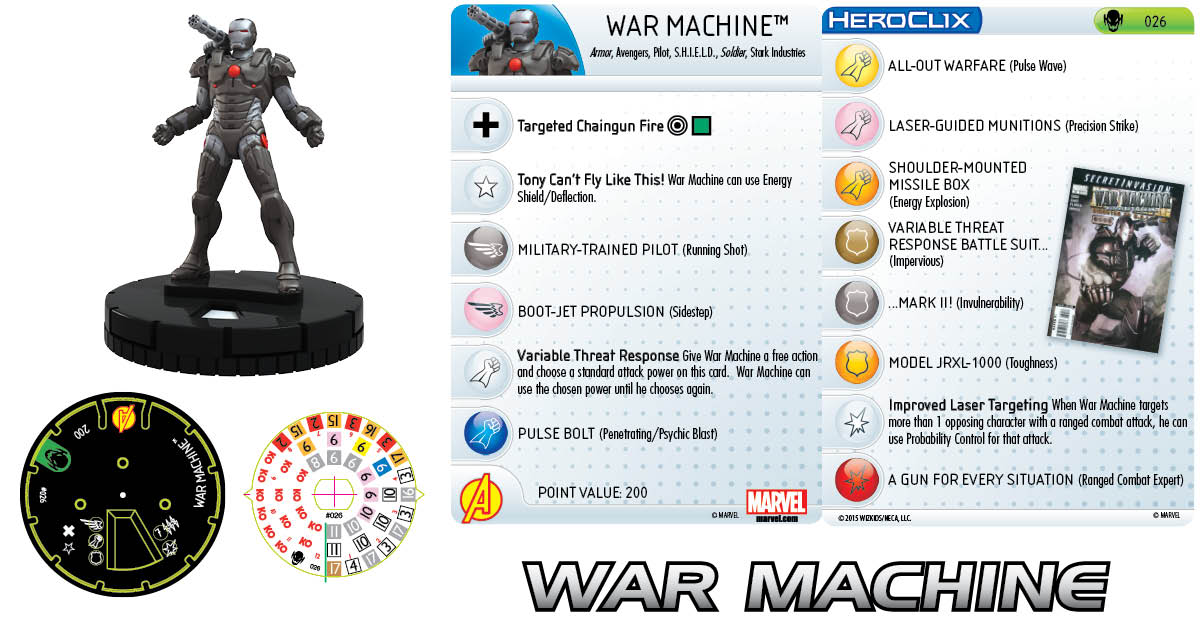 Marvel HeroClix: Age of Ultron- War Machine