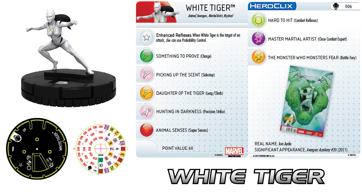 Marvel HeroClix: Age of Ultron- White Tiger