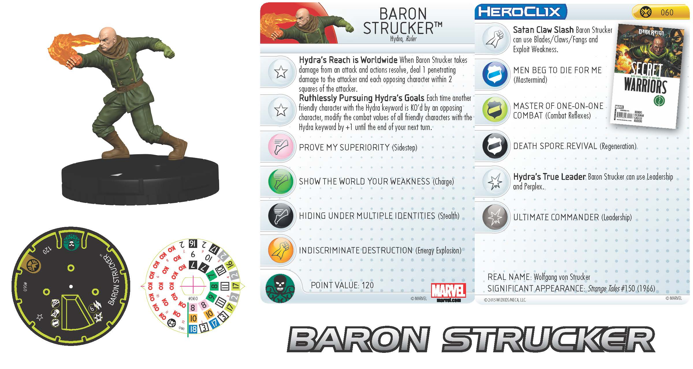 Marvel HeroClix: Nick Fury, Agent of S.H.I.E.L.D. - Baron Strucker