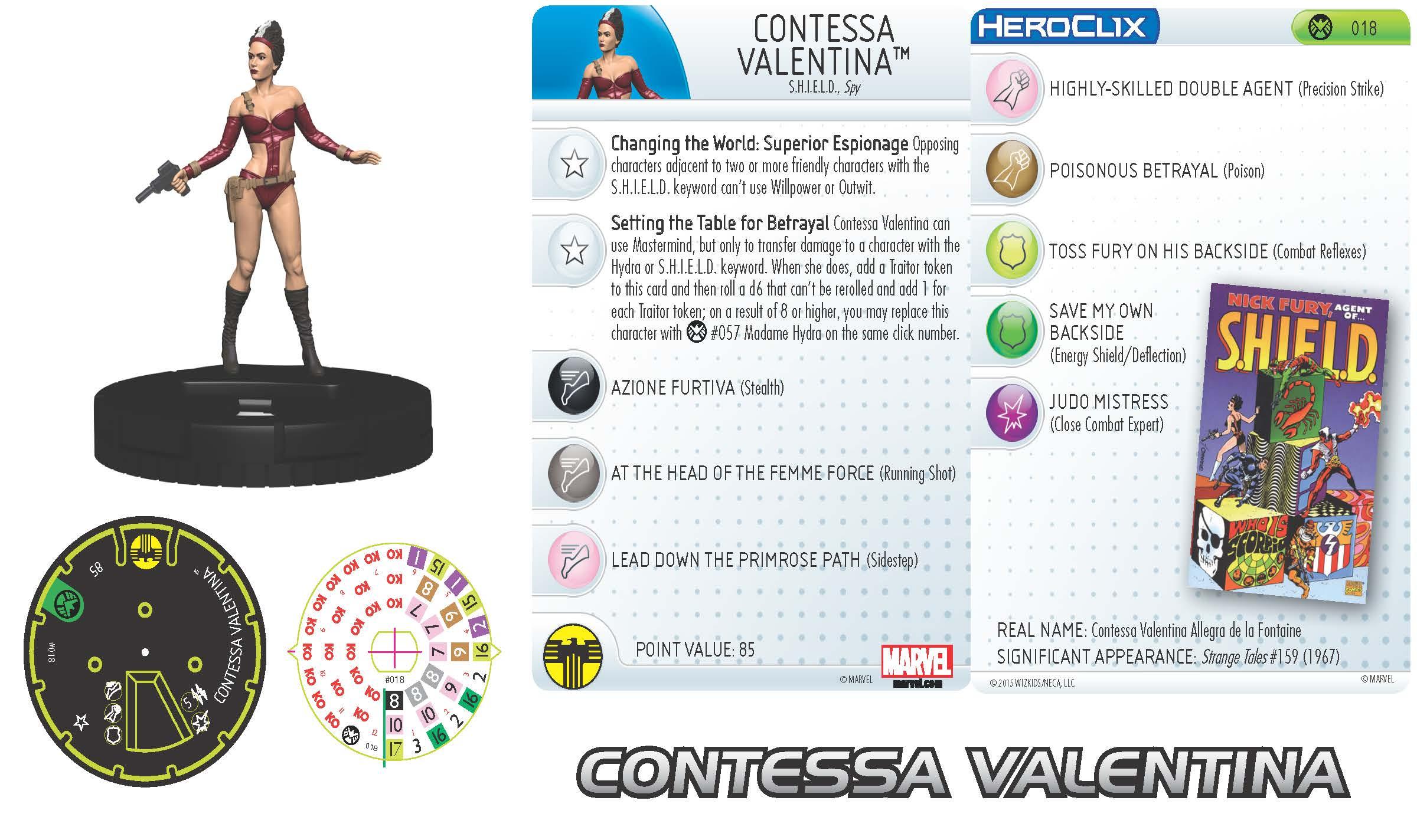 Marvel HeroClix: Nick Fury, Agent of S.H.I.E.L.D.- Contessa Valentina
