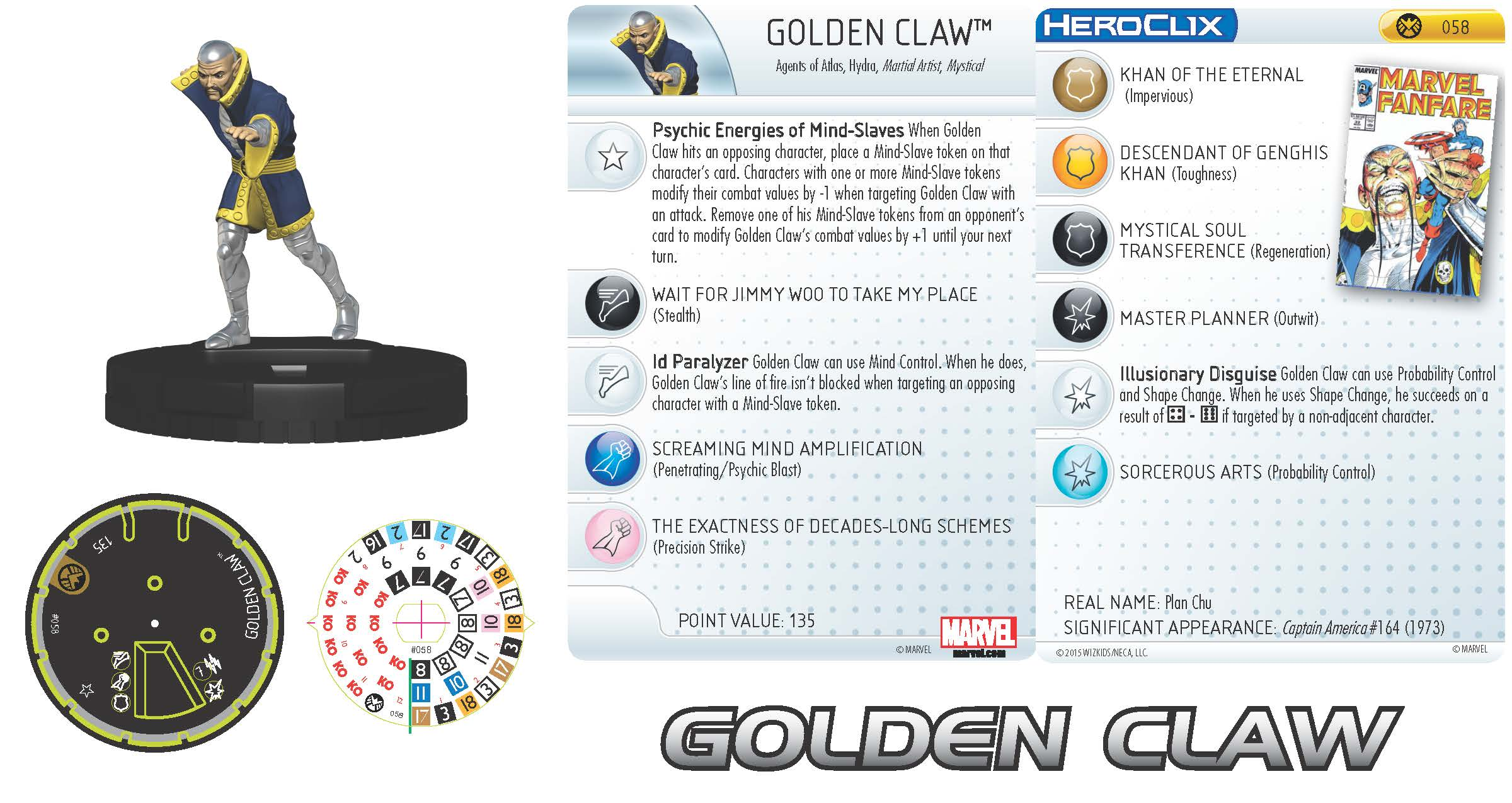 Marvel HeroClix: Nick Fury, Agent of S.H.I.E.L.D. - Golden Claw