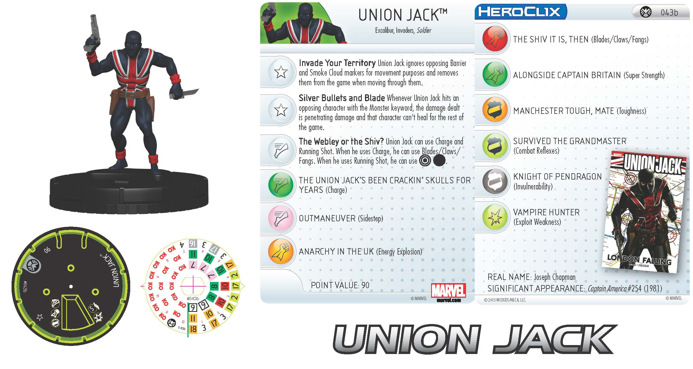Marvel HeroClix: Nick Fury, Agent of S.H.I.E.L.D.- Union Jack