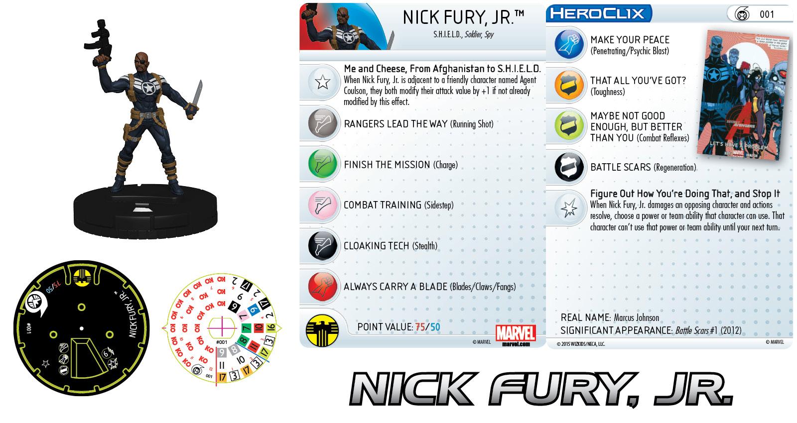 Marvel HeroClix:Nick Fury, Agent of S.H.I.E.L.D.- Nick Fury, Jr.