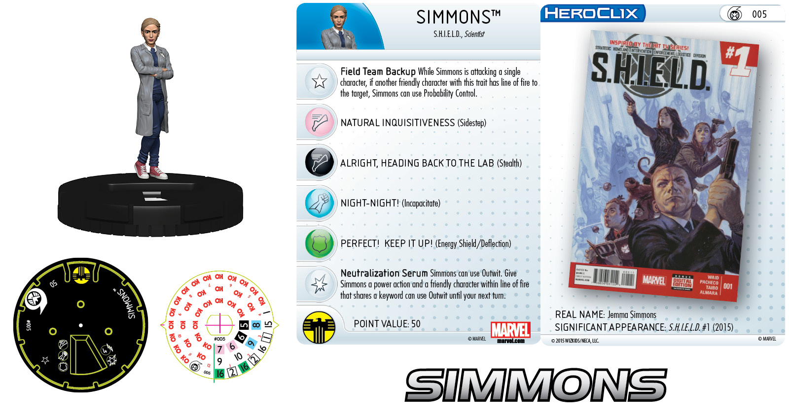 Marvel HeroClix: Nick Fury, Agent of S.H.I.E.L.D.- Simmons