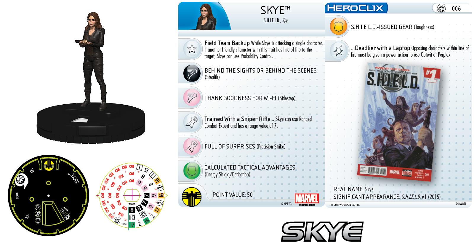 Marvel HeroClix:Nick Fury, Agent of S.H.I.E.L.D.- Skye
