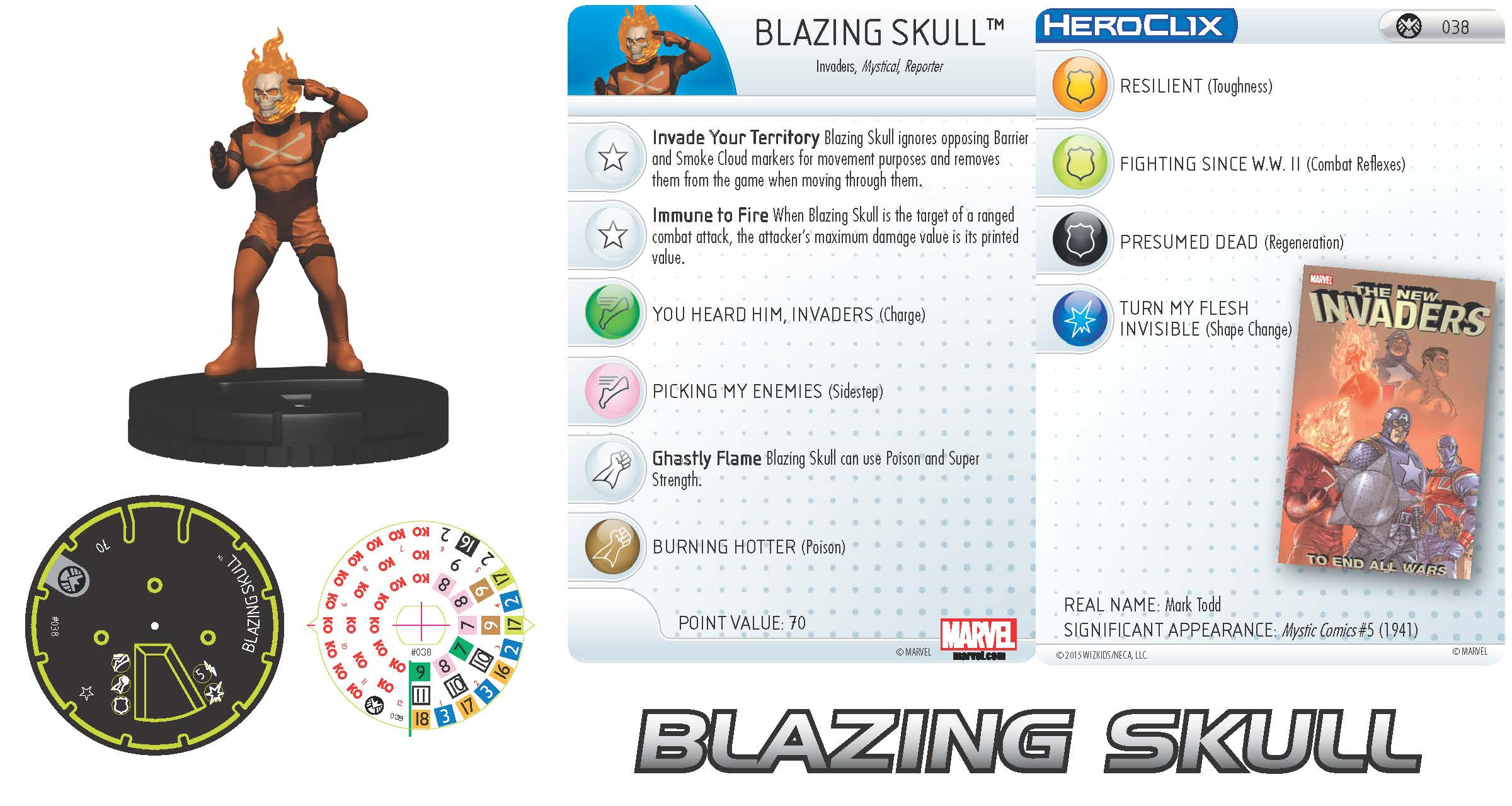 Marvel HeroClix: Nick Fury, Agent of S.H.I.E.L.D.- Blazing Skull