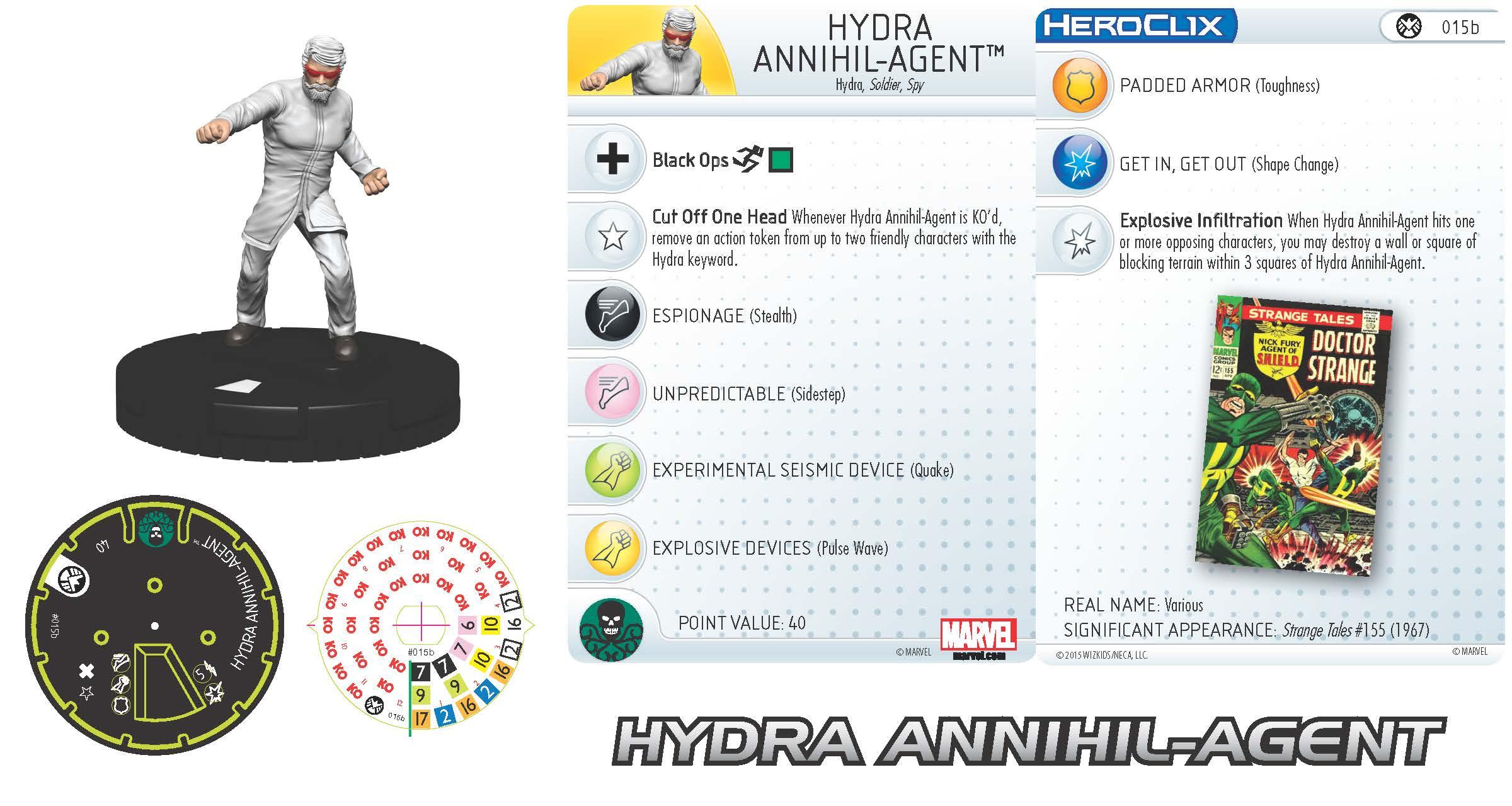 Marvel HeroClix: Nick Fury, Agent of S.H.I.E.L.D.- Hydra Annihil-Agent