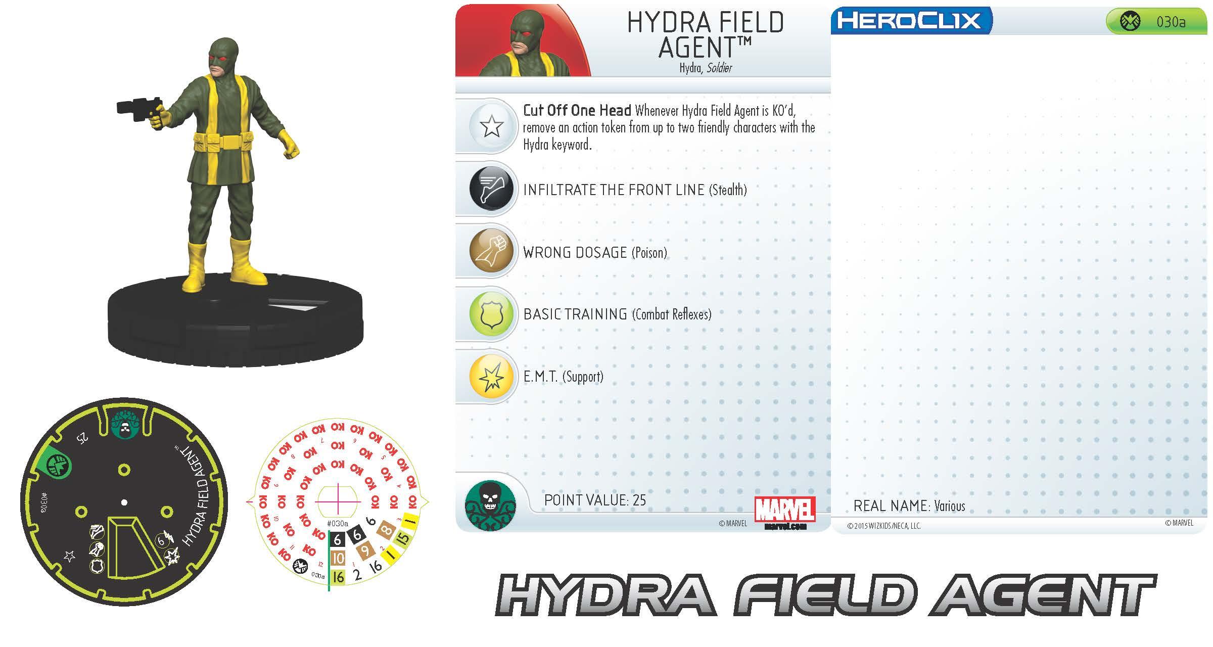Marvel HeroClix: Nick Fury, Agent of S.H.I.E.L.D.- Hydra Field Agent