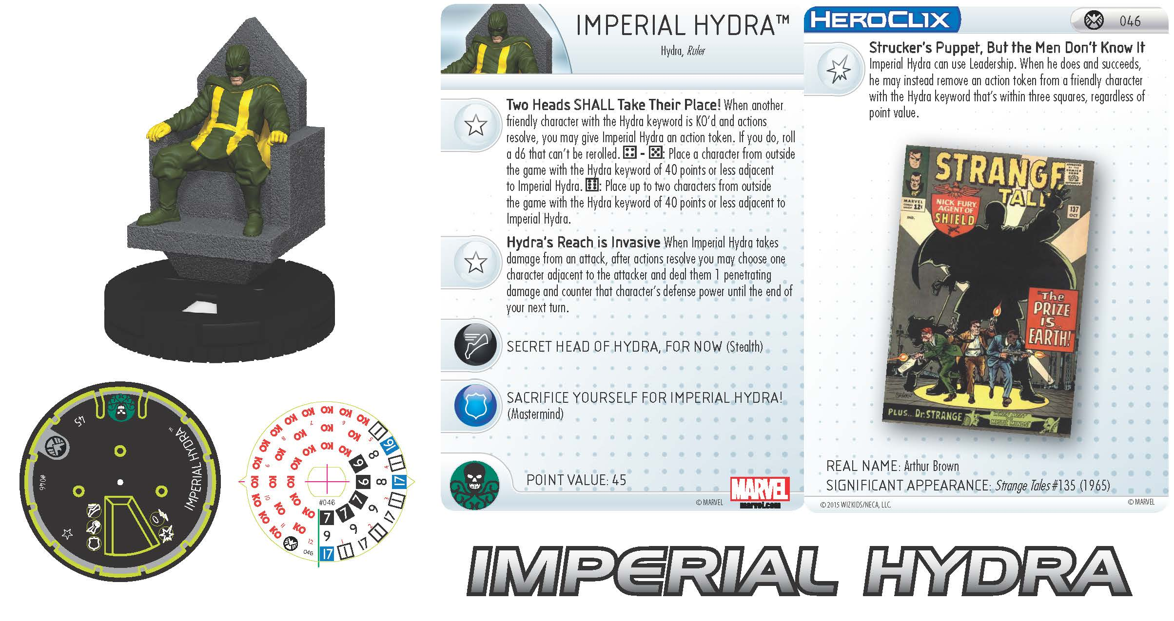 Marvel HeroClix: Nick Fury, Agent of S.H.I.E.L.D.- Imperial Hydra