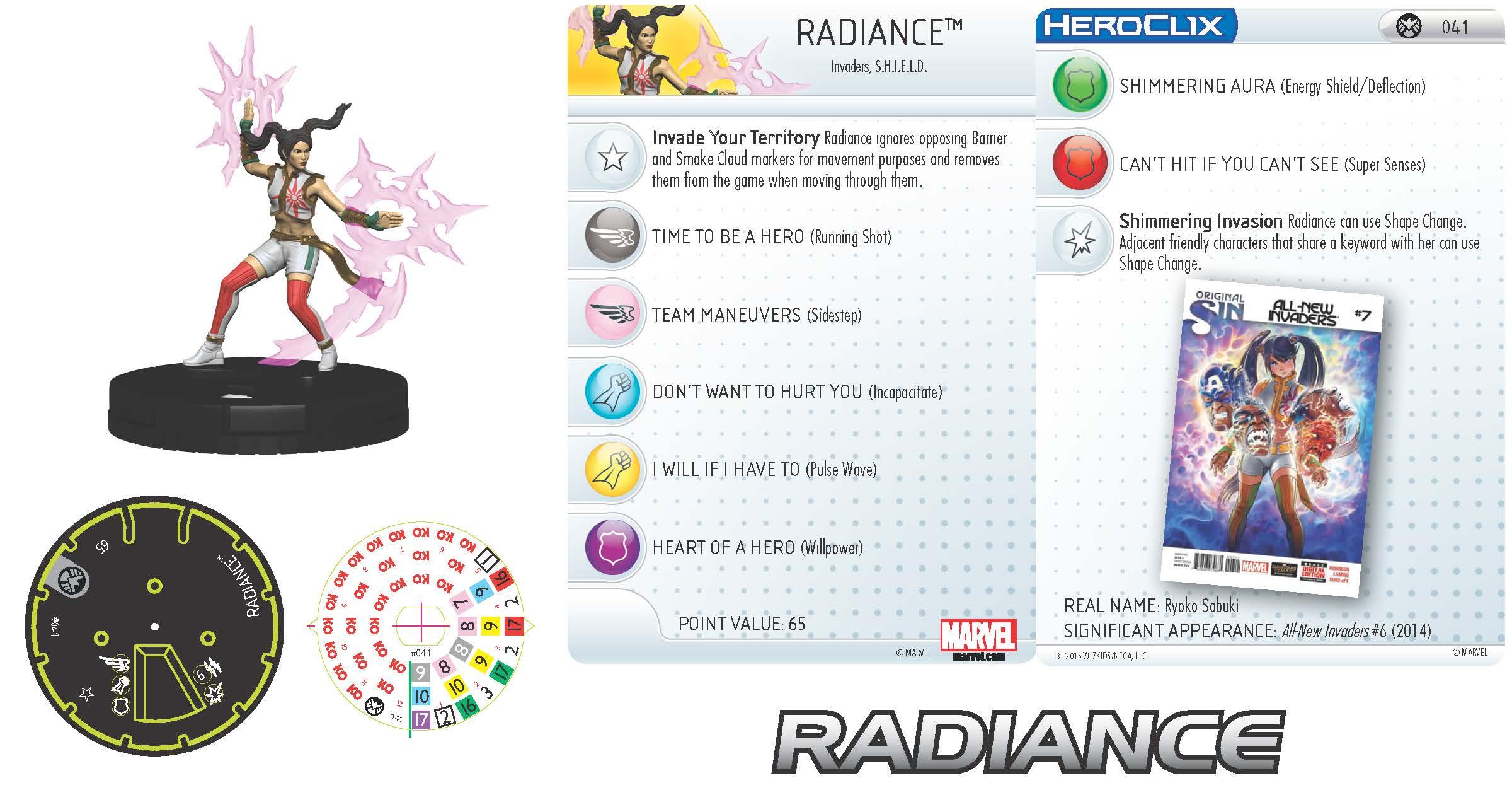 Marvel HeroClix: Nick Fury, Agent of S.H.I.E.L.D.- Radiance