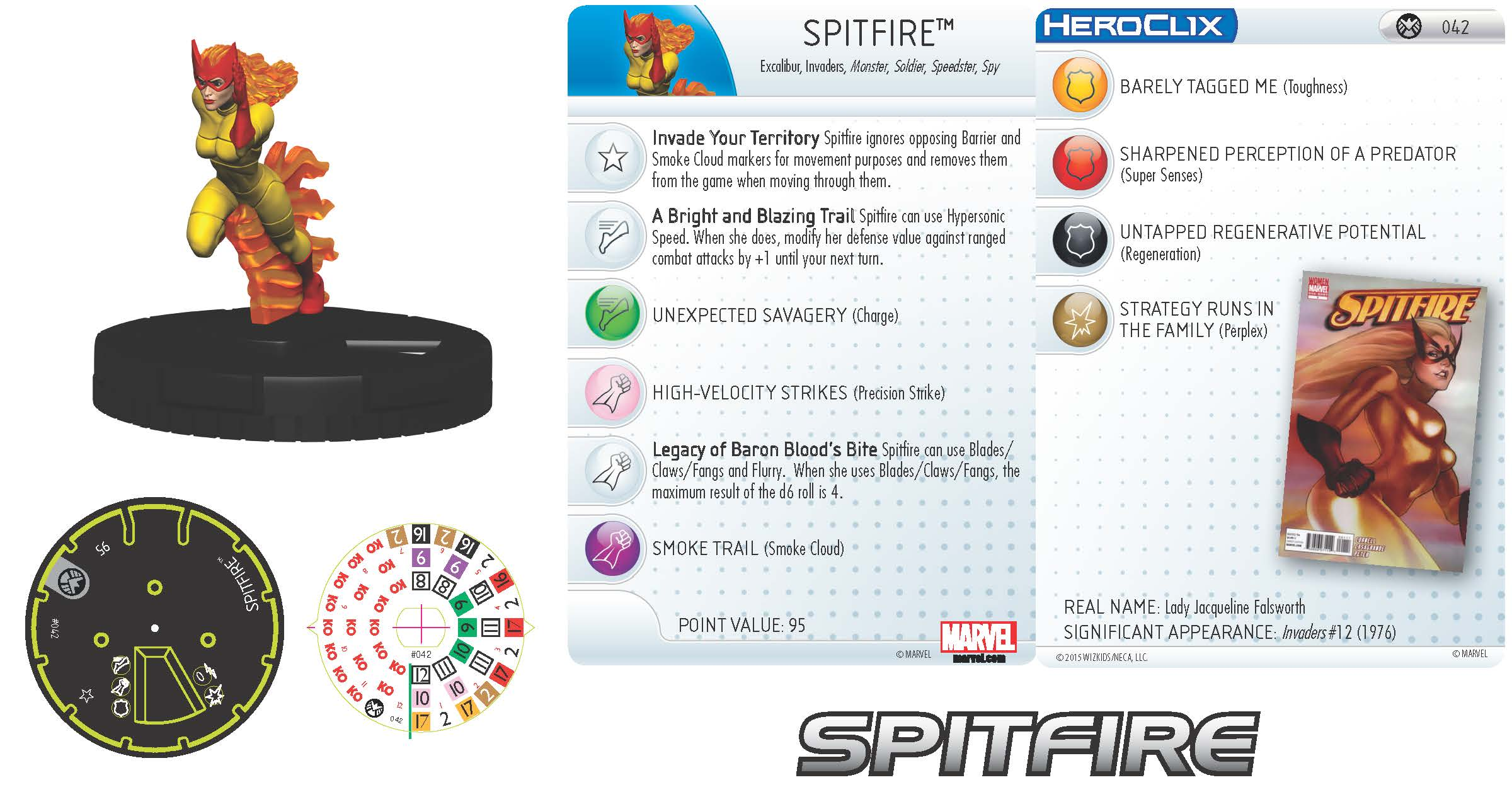 Marvel HeroClix: Nick Fury, Agent of S.H.I.E.L.D.- Spitfire