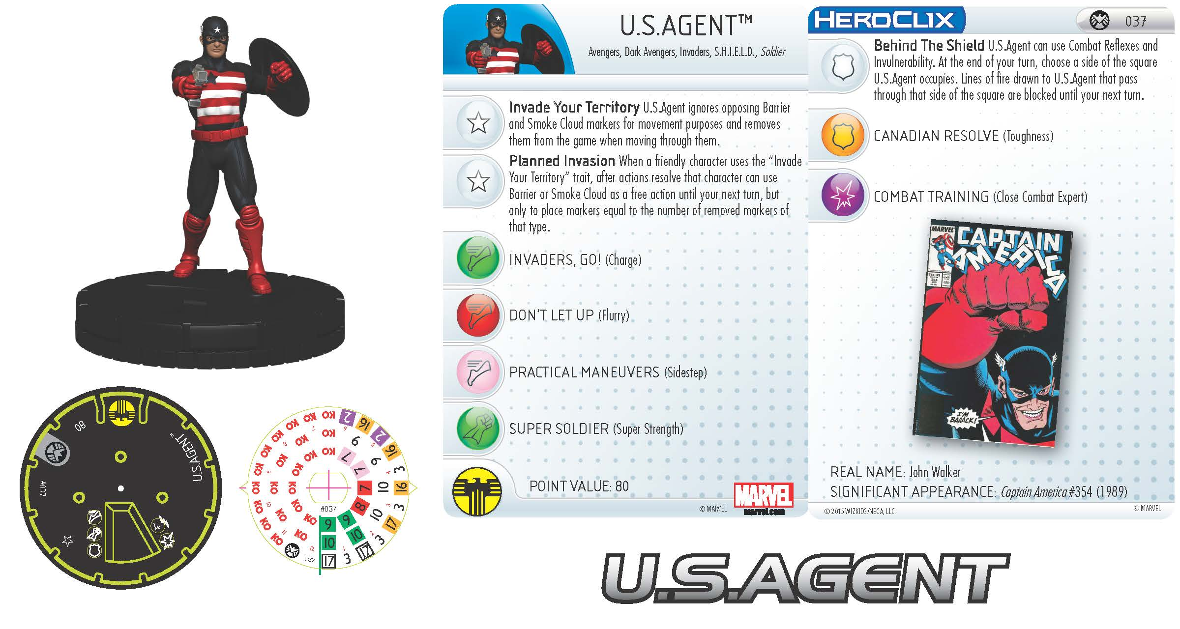 Marvel HeroClix: Nick Fury, Agent of S.H.I.E.L.D.- U.S.Agent