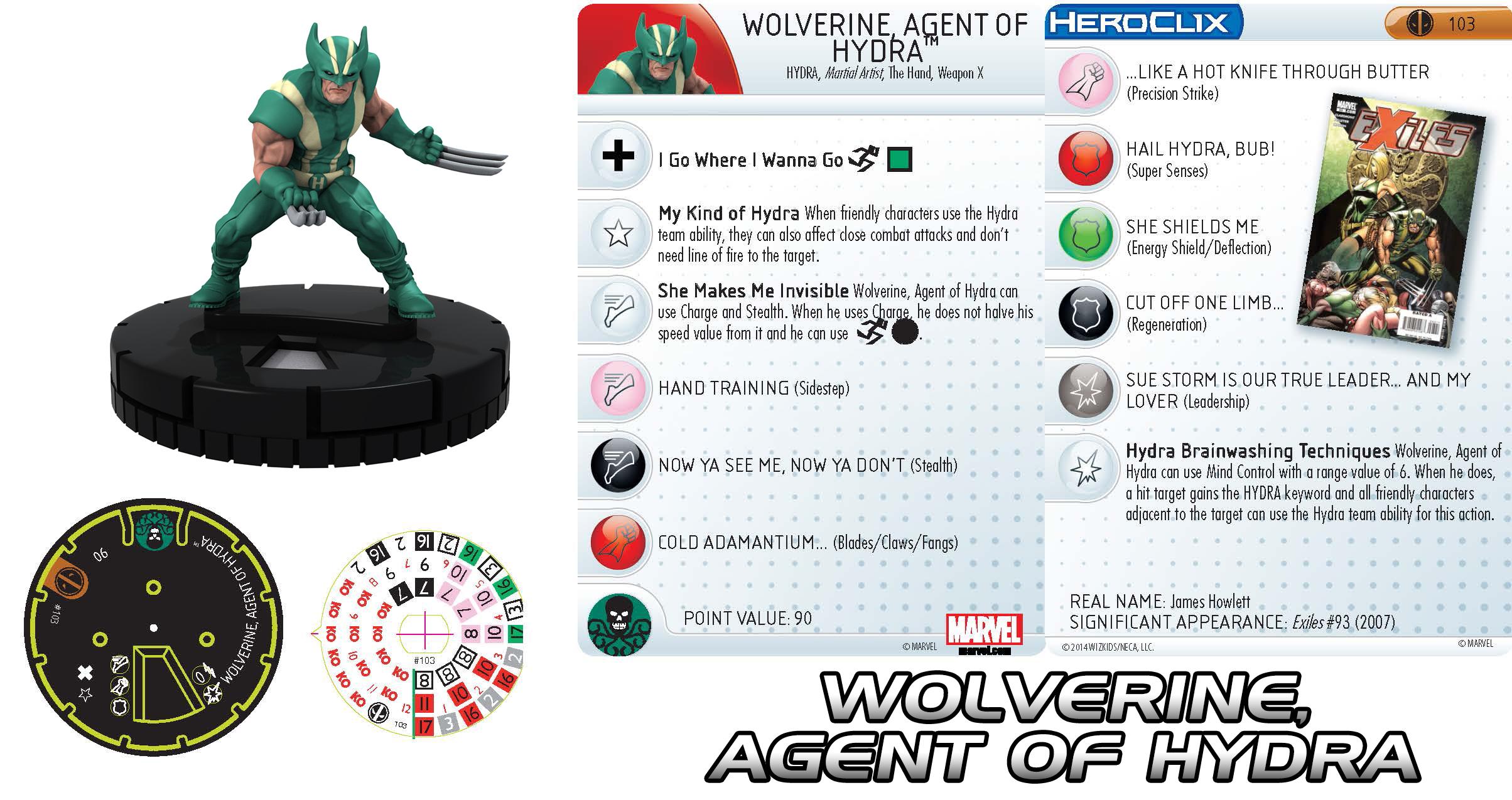 Marvel HeroClix: Deadpool- Wolverine, Agent of Hydra