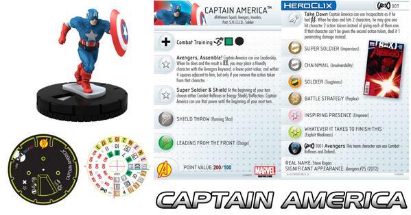 Marvel HeroClix: Avenger vs. X-Men- Captain America