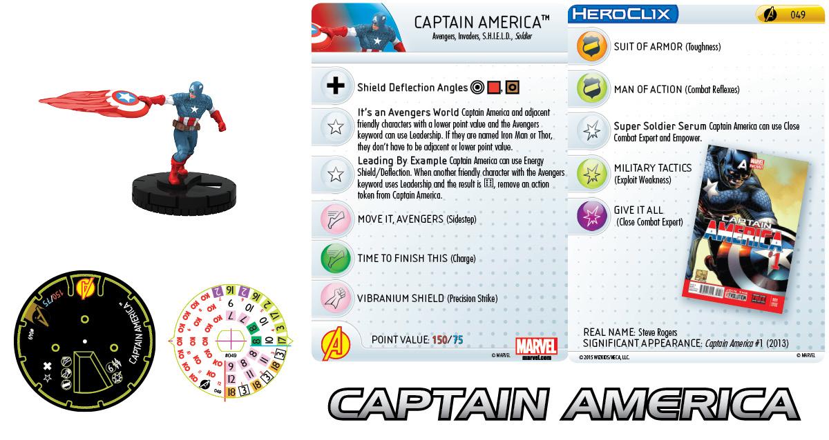 Marvel HeroClix: Avengers Assemble- Captain America