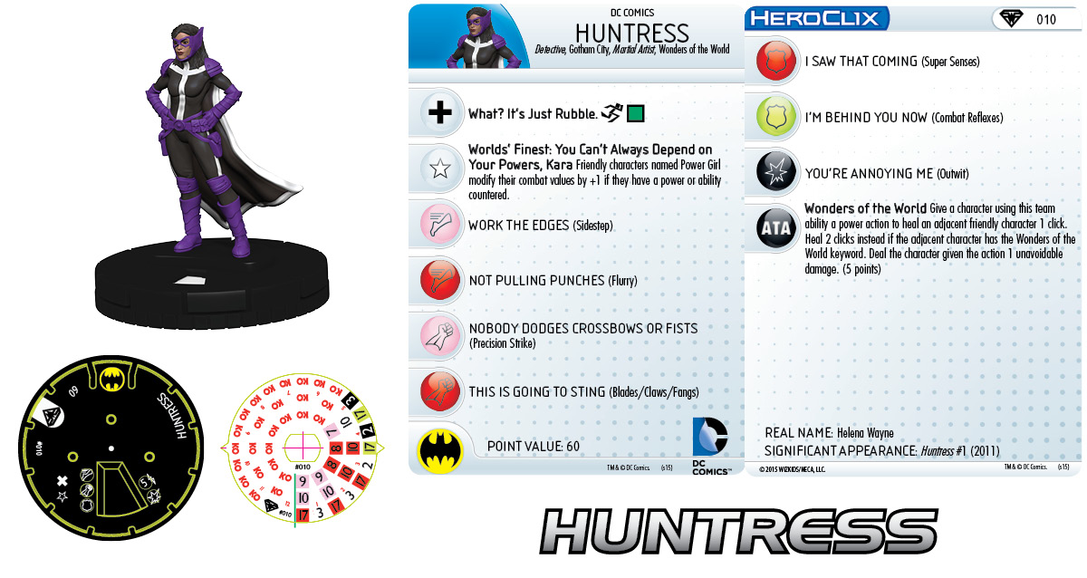 DC HeroClix: Superman/Wonder Woman- Huntress