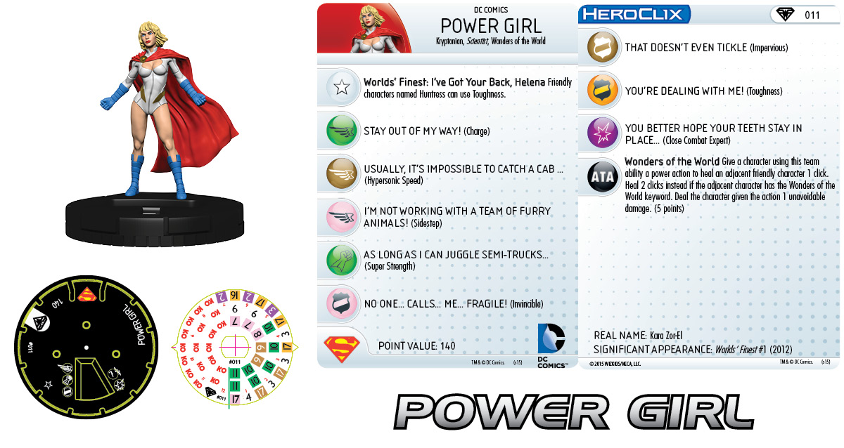 DC HeroClix: Superman/Wonder Woman- Power Girl