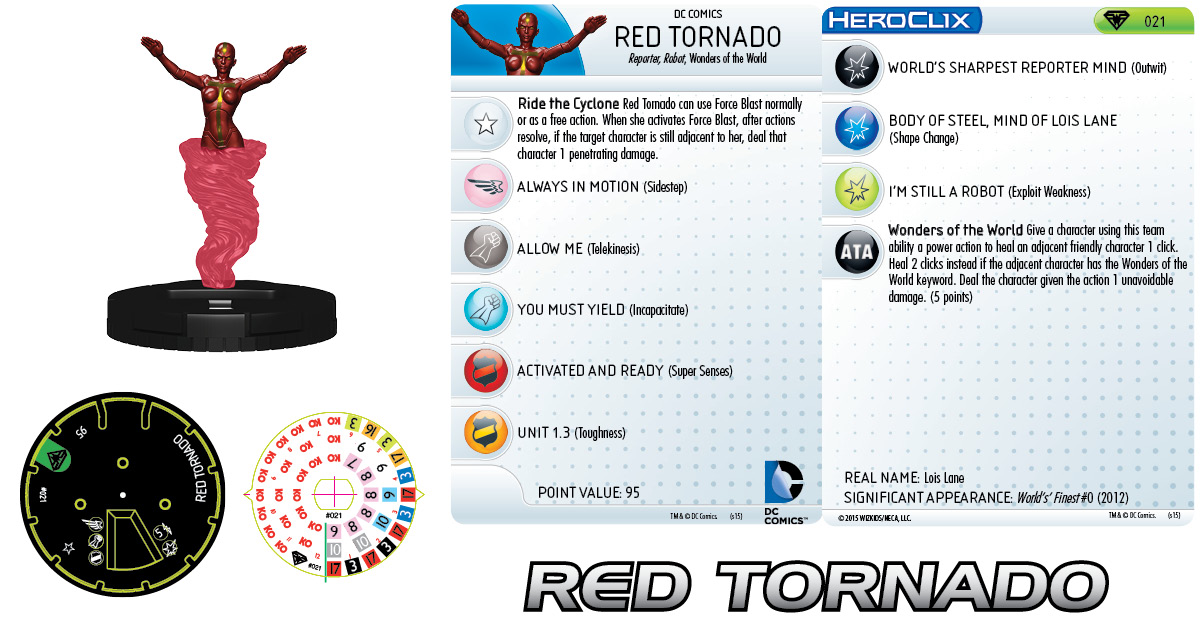 DC HeroClix: Superman/Wonder Woman- Red Tornado