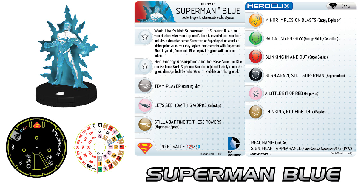DC HeroClix: Superman/Wonder Woman- Superman Blue