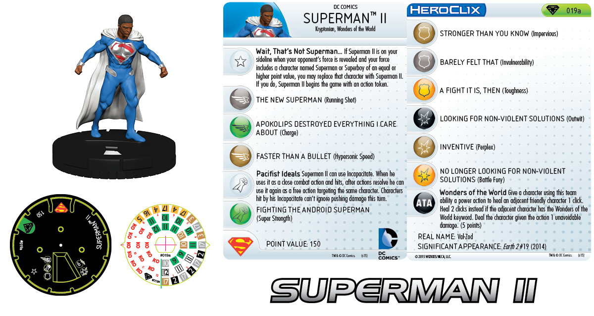 DC HeroClix: Superman/Wonder Woman- Superman II