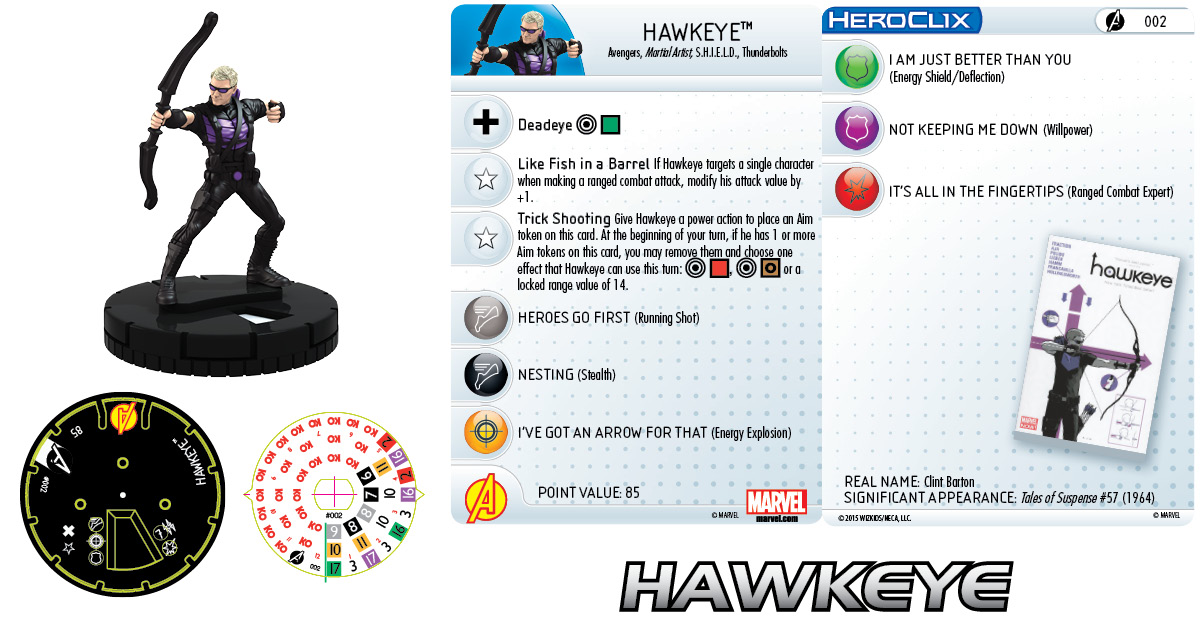Marvel Heroclix: Avengers Assemble- Hawkeye