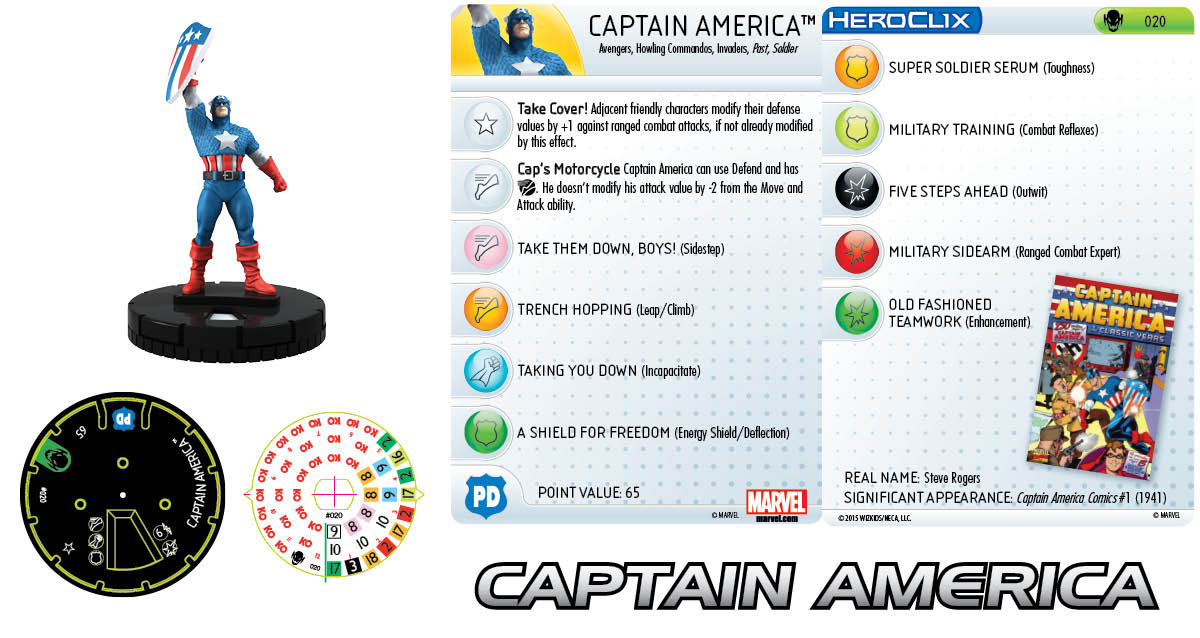 Marvel HeroClix: Age of Ultron SLOP- Captain America