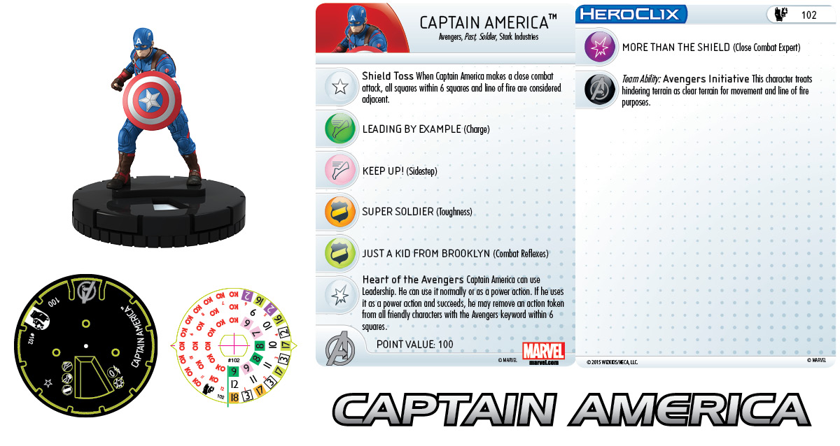 Marvel HeroClix: Original Avengers Fast Forces Pack- Captain America