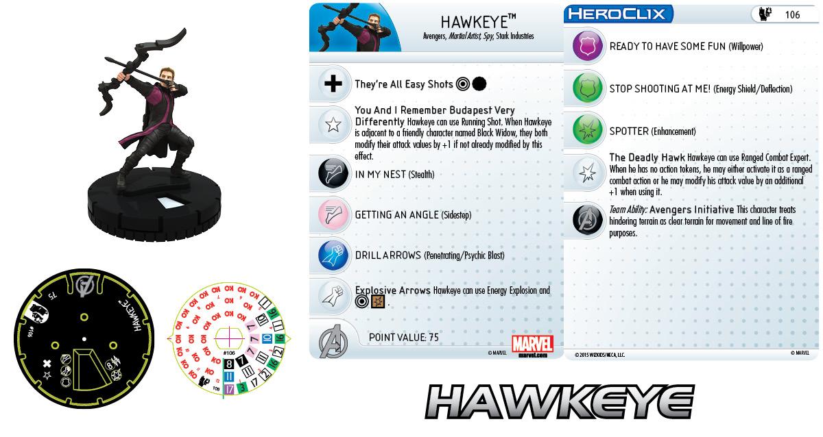Marvel Heroclix: Avengers - Age of Ultron- Hawkeye