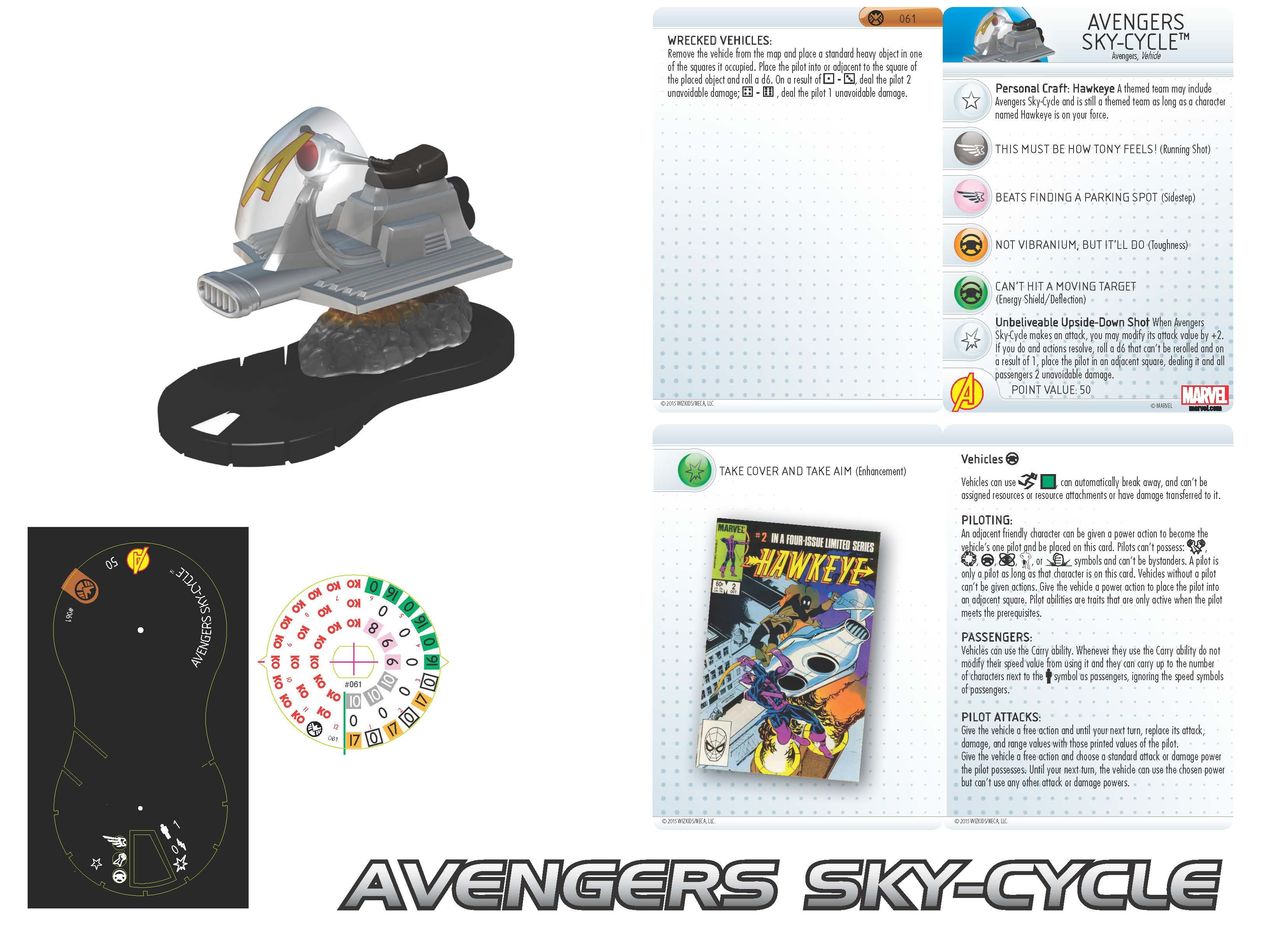 Marvel HeroClix: Nick Fury, Agent of S.H.I.E.L.D. - Avengers Sky-Cycle