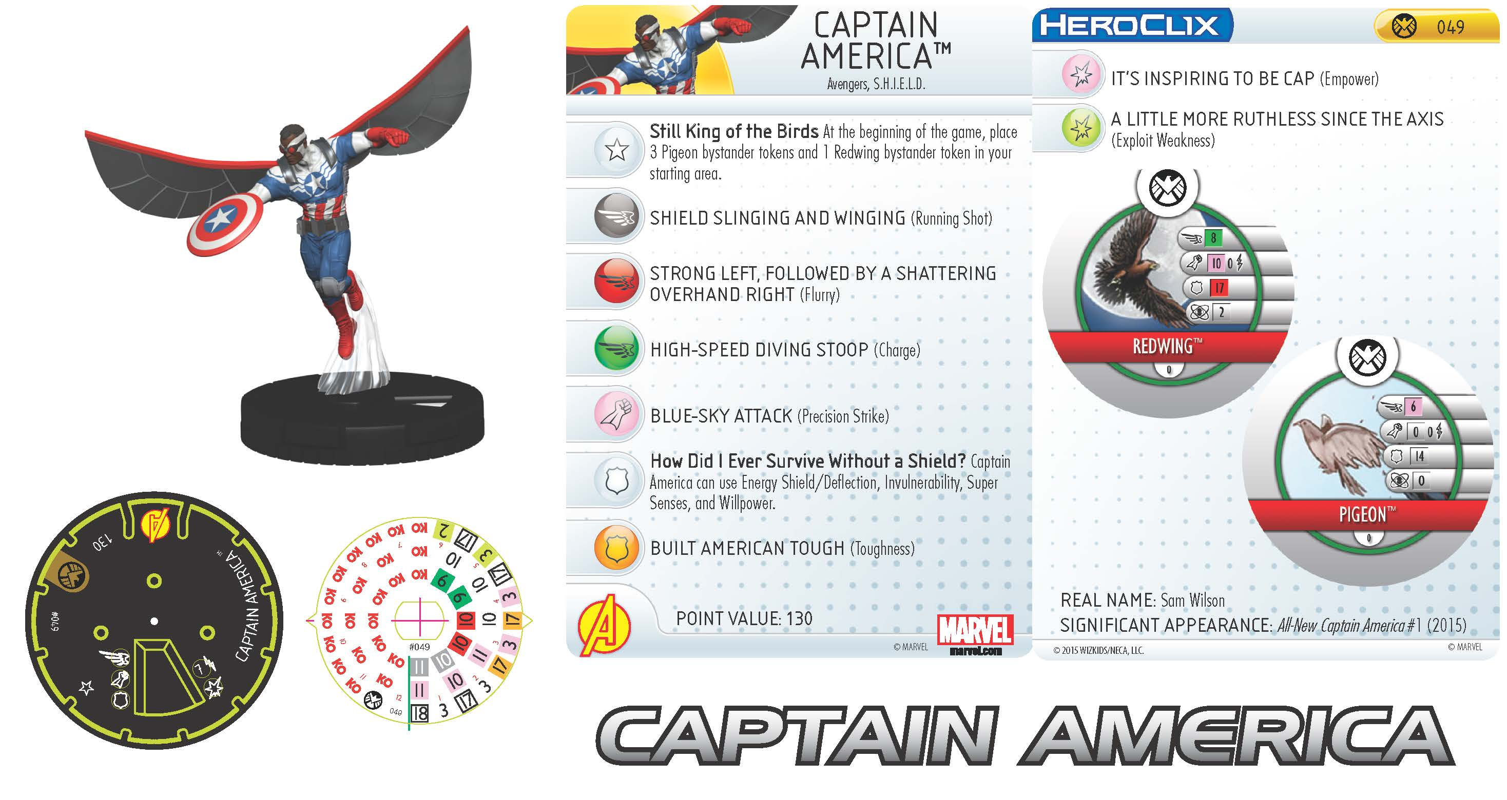 Marvel HeroClix: Nick Fury, Agent of S.H.I.E.L.D. - Captain America