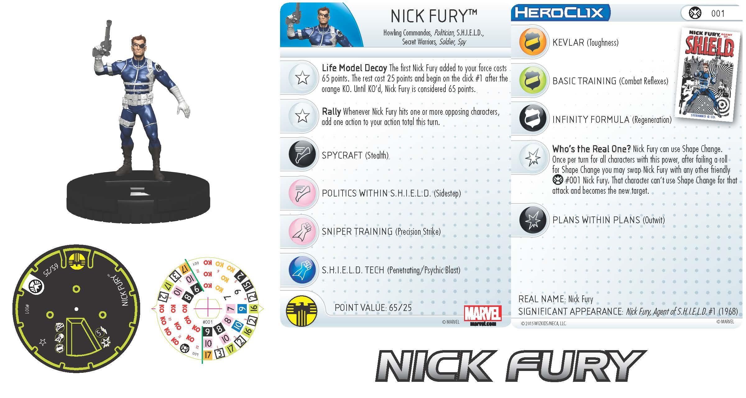Marvel HeroClix: Nick Fury, Agent of S.H.I.E.L.D.- Nick Fury