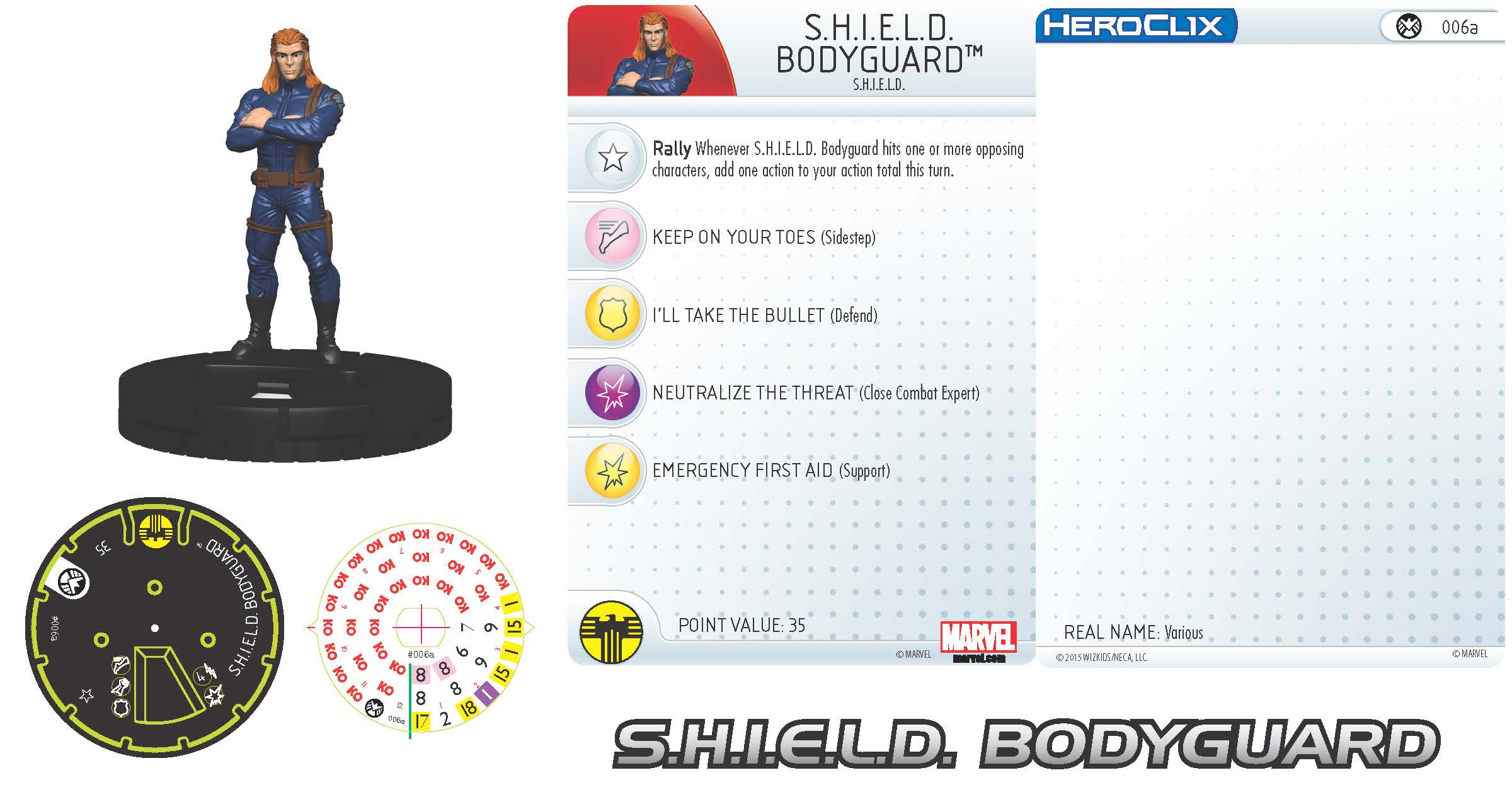 Marvel HeroClix: Nick Fury, Agent of S.H.I.E.L.D.- S.H.I.E.L.D. Bodyguard