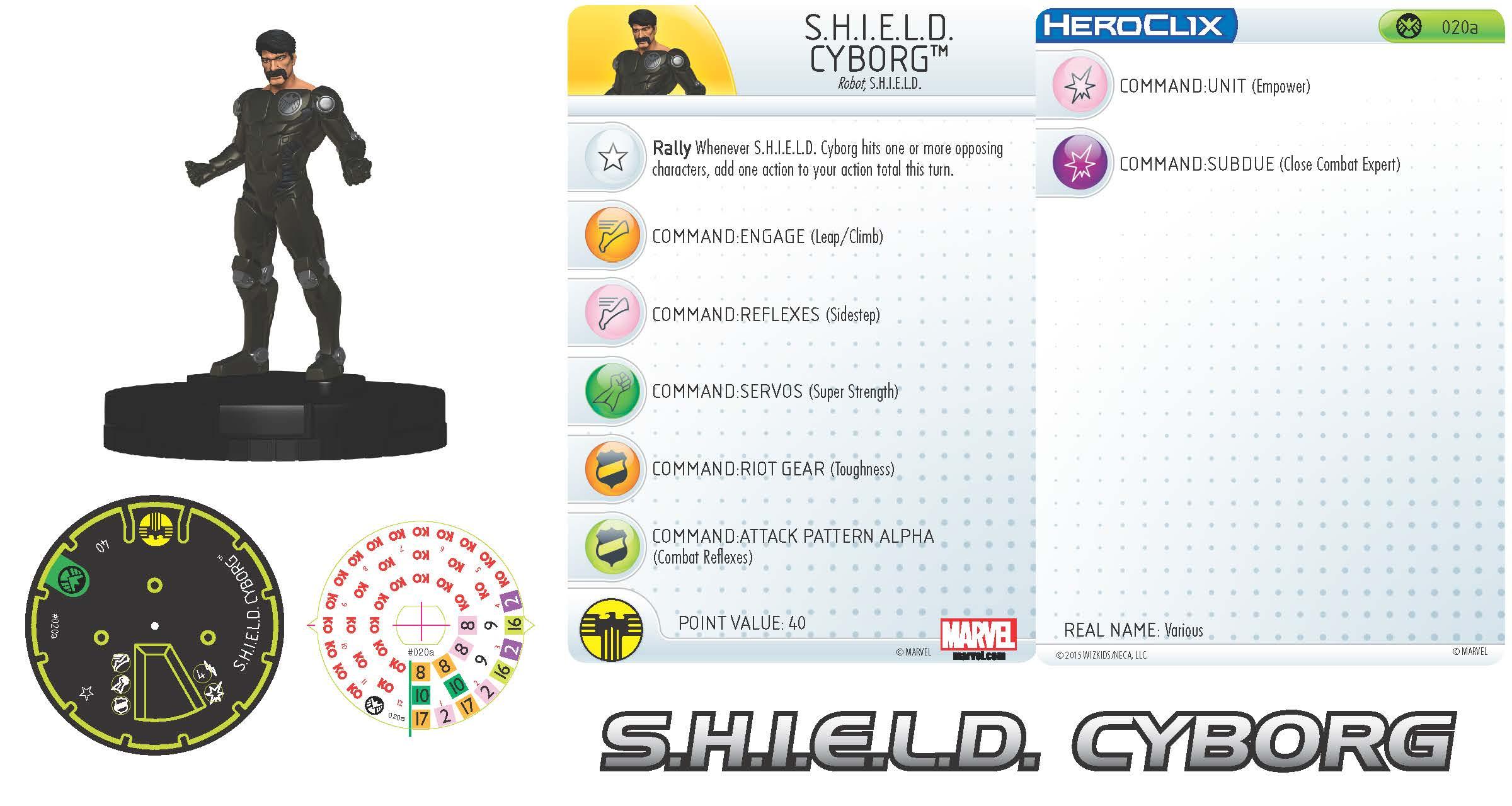 Marvel HeroClix: Nick Fury, Agent of S.H.I.E.L.D.- S.H.I.E.L.D. Cyborg