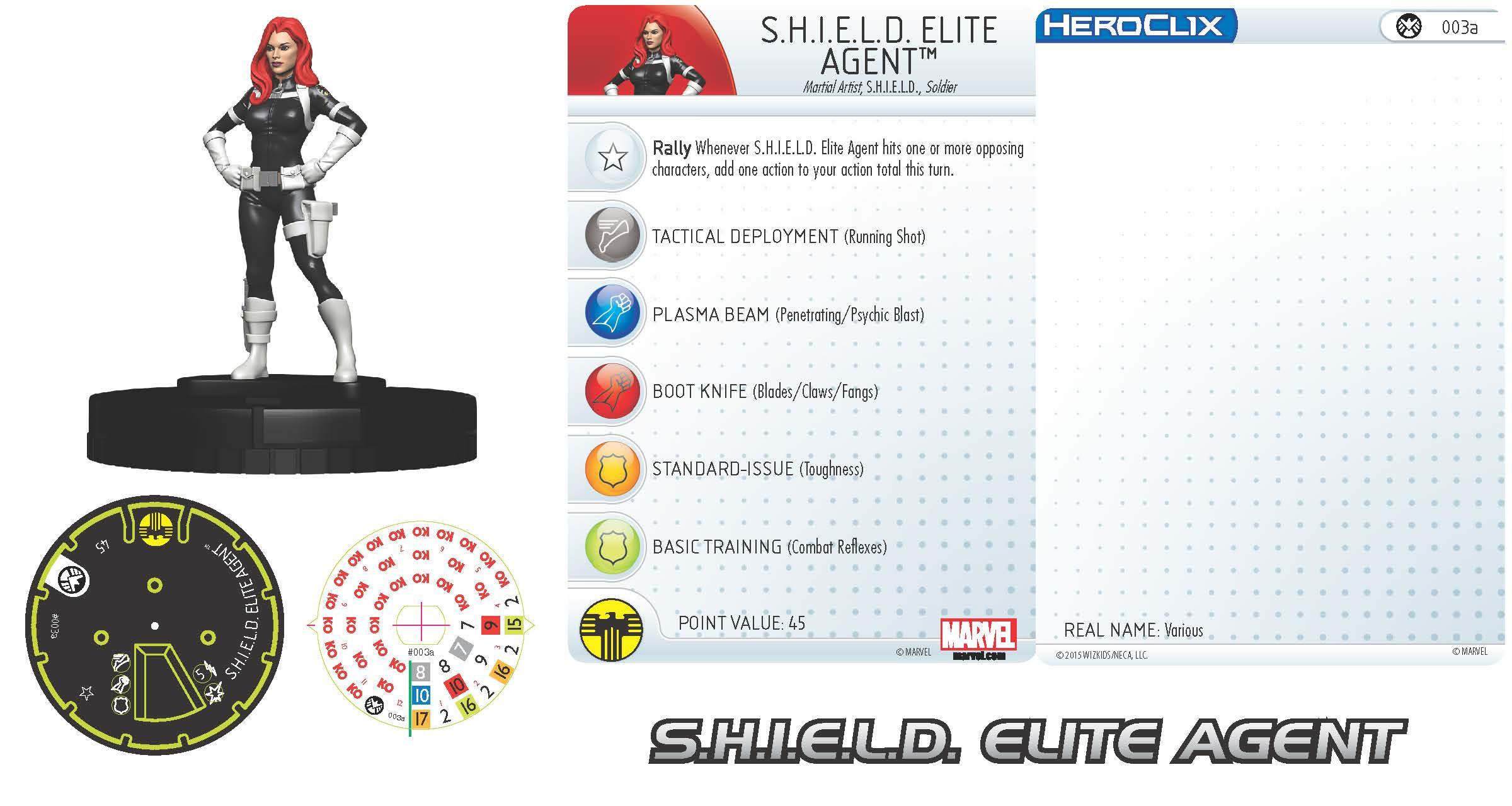 Marvel HeroClix: Nick Fury, Agent of S.H.I.E.L.D.- S.H.I.E.L.D. Elite Agent
