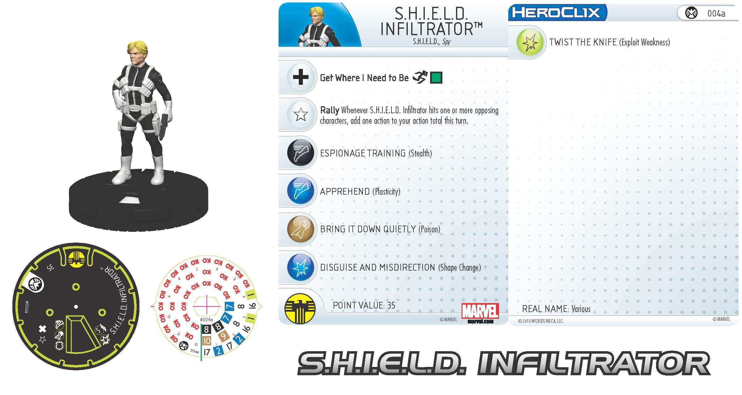 Marvel HeroClix: Nick Fury, Agent of S.H.I.E.L.D.- S.H.I.E.L.D. Infiltrator