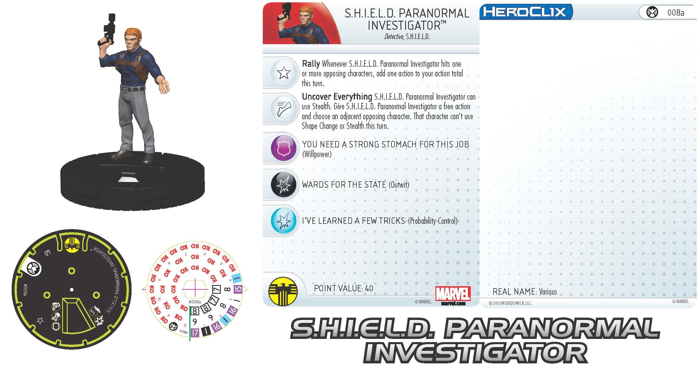 Marvel HeroClix: Nick Fury, Agent of S.H.I.E.L.D.- S.H.I.E.L.D. Paranormal Investigator