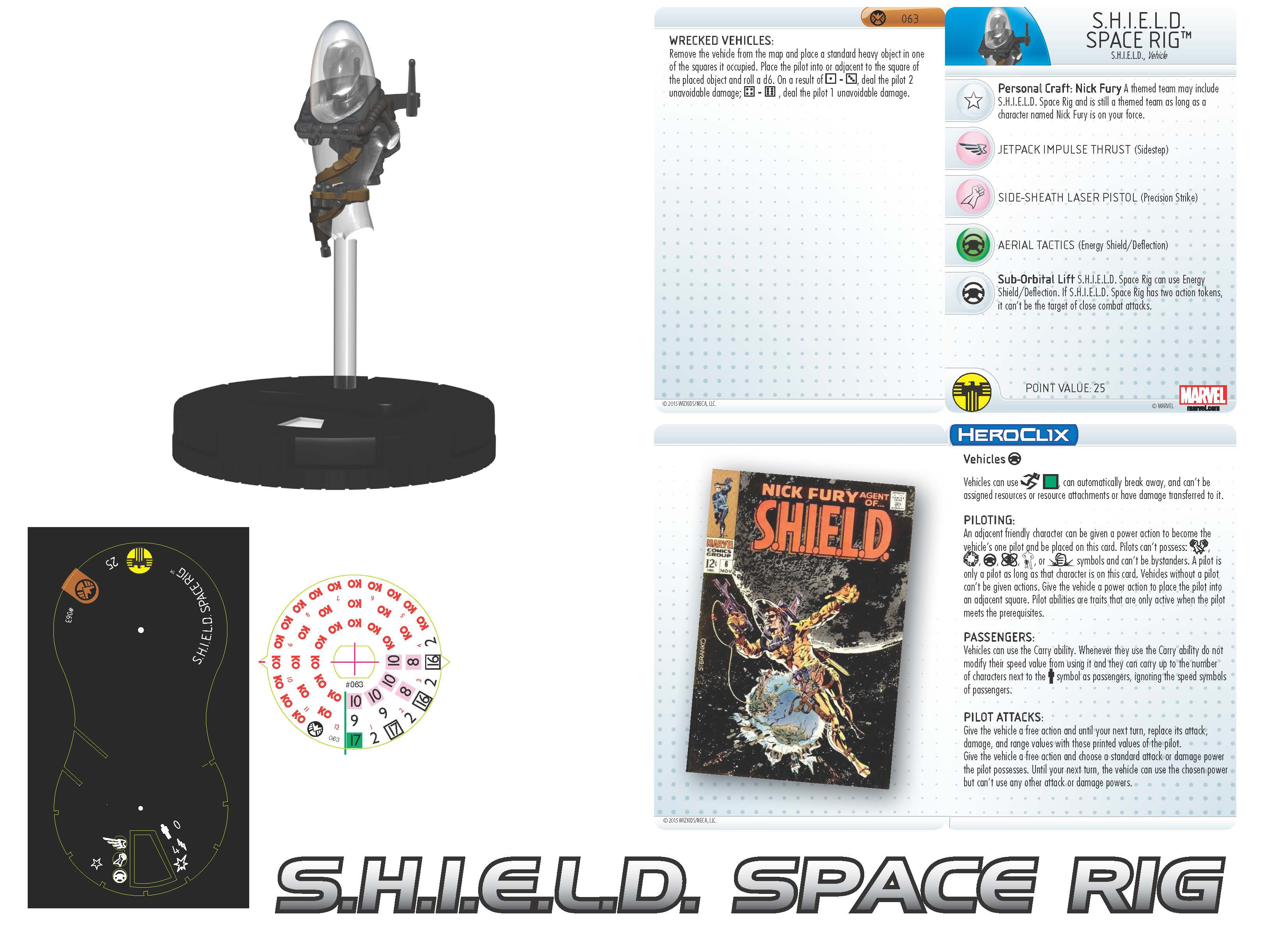 Marvel HeroClix: Nick Fury, Agent of S.H.I.E.L.D.- Space Rig