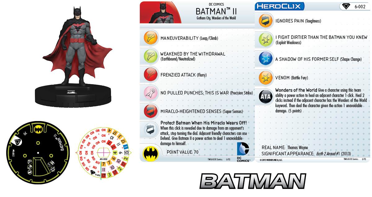 DC HeroClix: Superman/Wonder Woman- Earth 2 Fast Forces Pack- Batman II