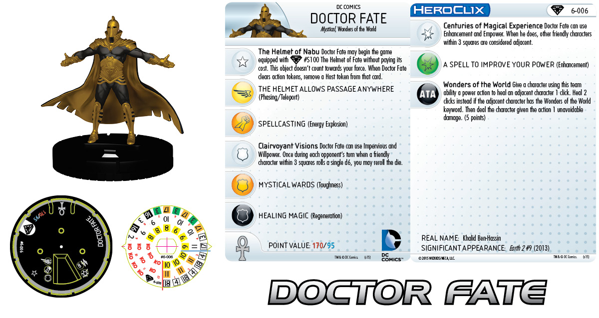 DC HeroClix: Superman/Wonder Woman- Earth 2 Fast Forces Pack- Doctor Fate